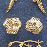 10k gold love knot post earrings