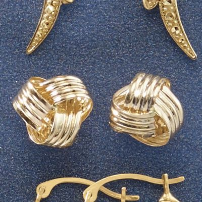 10K Gold Love Knot Post Earrings