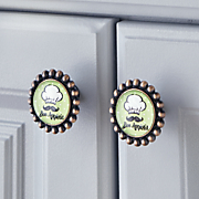 set of 8 kitchen phrase cabinet knobs