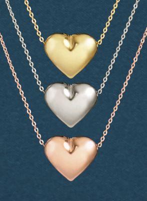 10K Gold Heart Pendant
