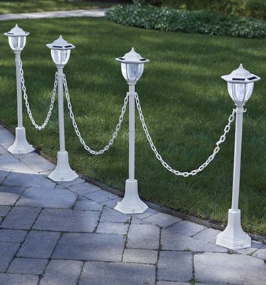 Set of 4 Chained Solar Lanterns