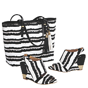 Petronia Tote and Open Toe Bootie