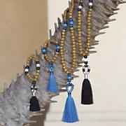 Wood-Bead Color-Fringe Jewelry