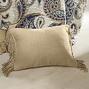 Fringed Burlap Pillow