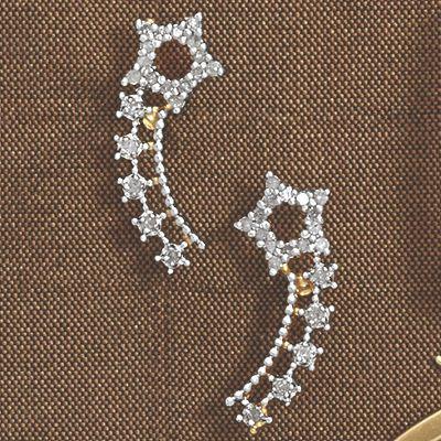 Diamond Star Ear Climbers