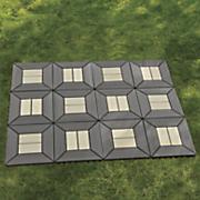 set of 12 gray square patio tiles