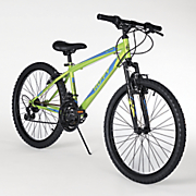 24  gloss acid green mountain bike by huffy