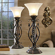 Set of 2 Fluted Table Lamps