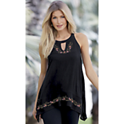 Embroidered Easygoing Top