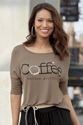Coffee Before Anything Top