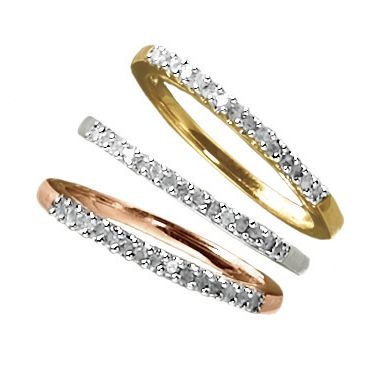 3-Piece Diamond Accent Stacked Ring Set