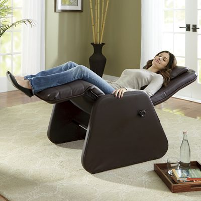 Manual zero gravity chair with heat and massage seventh for Living room zero gravity chair