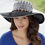 brimmed colorful band hat