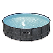 12' Wicker Pattern Elite Metal Frame Pool by Summer Waves