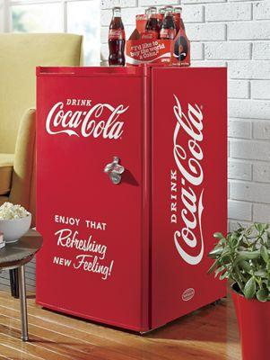 Compact Coca-Cola Refrigerator