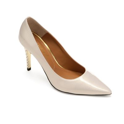 Maressa Gold Heel Pump by Jrenee