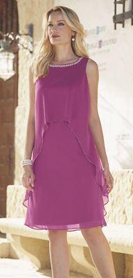 Grace Pearl Neck Dress