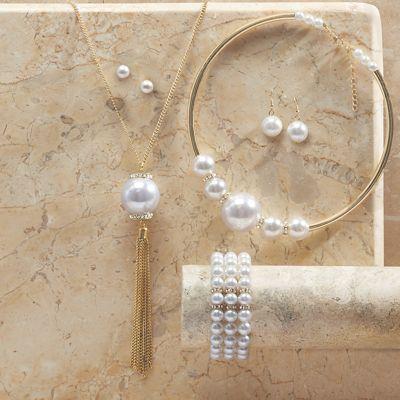 Faux Pearl Jewelry