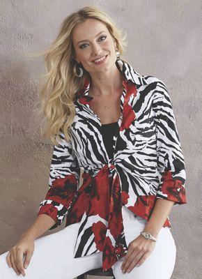 Zebra Rose Shirt