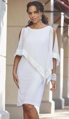 Mercedes Sequin Cape Dress