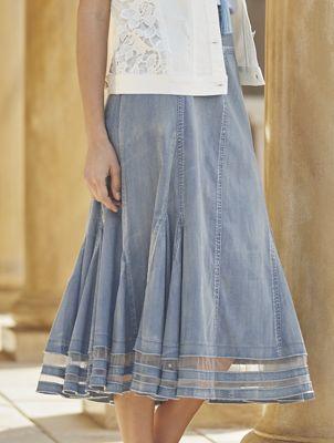 Mesh Trim Skirt