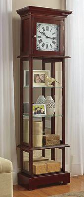 Curio Grandfather Clock with Hidden Storage