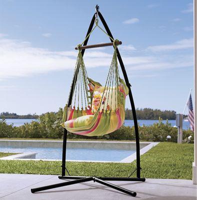 Flower Bird Hammock Chair, Pillow and Base