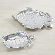 set of 2 turtle trays