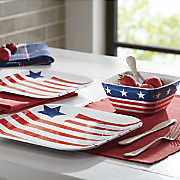 American Flag 12-Piece Melamine Dinnerware Set