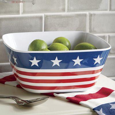 American Flag Square Bowl