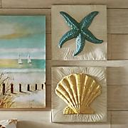 Metal Shell and Starfish Art