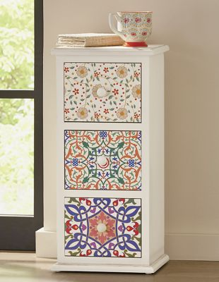 Patterned 3-Drawer Cabinet