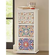 Patterned 3-Drawer Cabinet