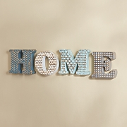 Gold Brushed Home Letters
