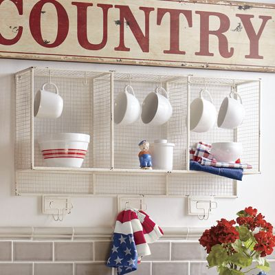 Cream Wire Shelf