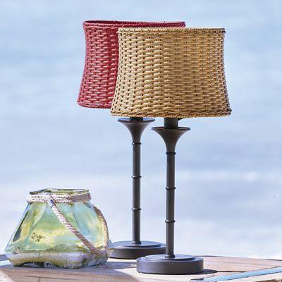 Wicker Shade Table Lamp