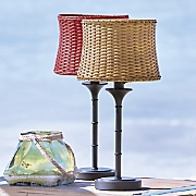 Wicker Shade Table Lamp
