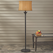 wicker shade floor lamp