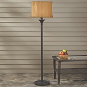 Wicker Shade Floor Lamp