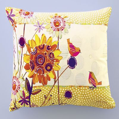 Flower Bird Pillow
