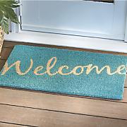 teal welcome mat   28 1 4   x 17 1 4