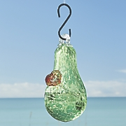 green hummingbird feeder