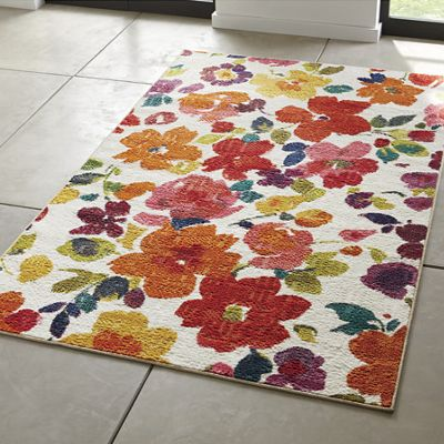 Bright Floral Toss Rug