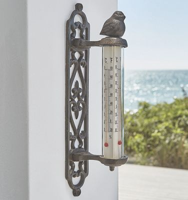 Cast Iron Bird Thermometer