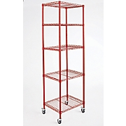 5 shelf tower metal rolling rack