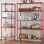 5 shelf metal rolling racks