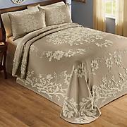 Floral Fantasy Jacquard Bedspread and Sham