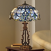 Marbled Stained Glass Table Lamp