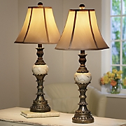 Set of 2 Bedside Table Lamps