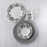 16 pc savanna dinnerware set & Serveware- Dinnerware Set Silverware Wine Glass set | Midnight Velvet